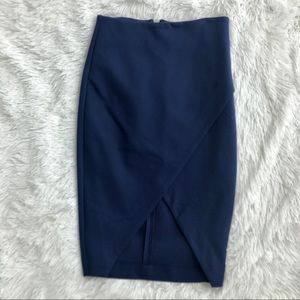 Express Navy Blue Diagonal Pencil Skirt NWT